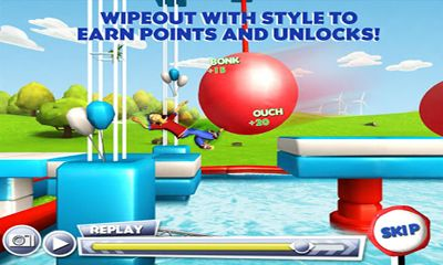Screenshots of the Wipeout for Android tablet, phone.