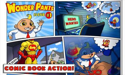 Screenshots of the Wonder Pants for Android tablet, phone.