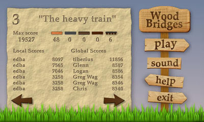 Screenshots of the Wood Bridges for Android tablet, phone.