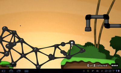 Screenshots of the World Of Goo for Android tablet, phone.