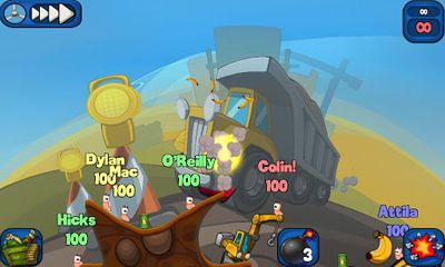 Screenshots of the Worms 2 Armageddon for Android tablet, phone.
