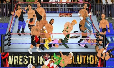 Screenshots of the Wrestling Revolution for Android tablet, phone.