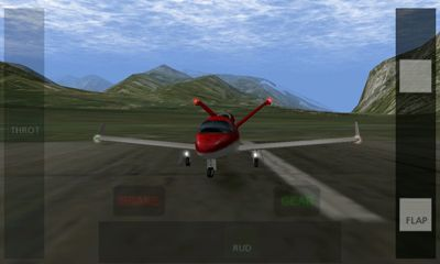 Screenshots of the X-Plane 9 3D for Android tablet, phone.