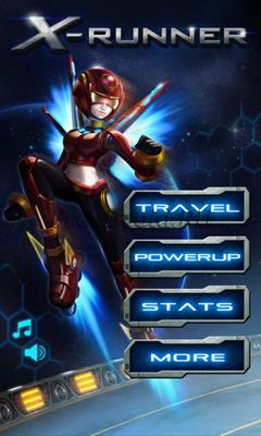 Screenshots of the X-Runner for Android tablet, phone.