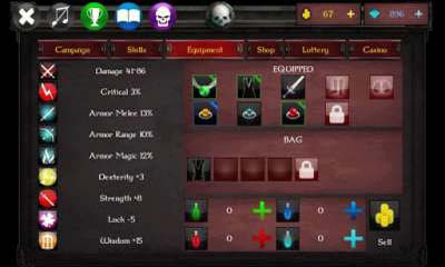 Screenshots of the XP Arena for Android tablet, phone.