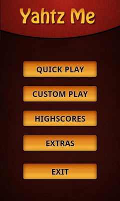 Screenshots of the Yahtzee Me FREE for Android tablet, phone.
