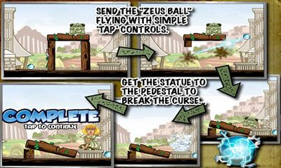 Screenshots of the Zeus Ball for Android tablet, phone.