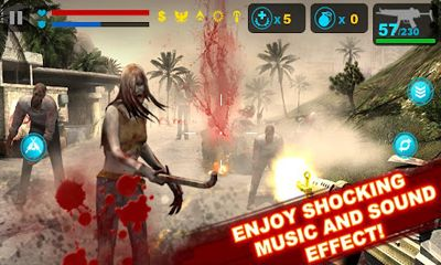 Screenshots of the Zombie Frontier for Android tablet, phone.