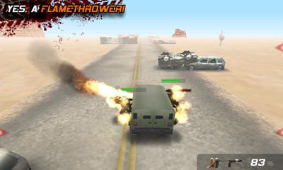 Screenshots of the Zombie Highway for Android tablet, phone.