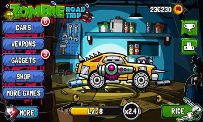 Screenshots of the Zombie Road Trip for Android tablet, phone.