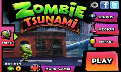 Screenshots of the Zombie Tsunami for Android tablet, phone.