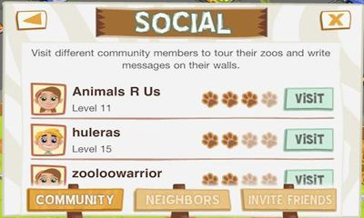 Screenshots of the Zoo Story for Android tablet, phone.
