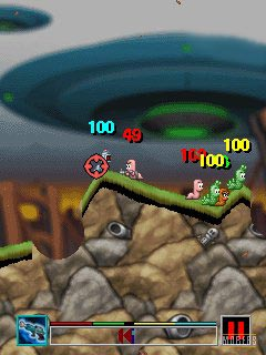 Mobile game Worms 2008 - screenshots. Gameplay Worms 2008