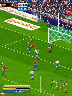 Mobile game Real Football 2009 Bluetooth - screenshots. Gameplay Real Football 2009 Bluetooth