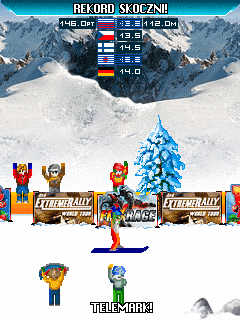Mobile game Skoki 2009 - screenshots. Gameplay Skoki 2009