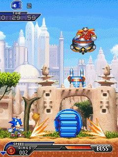 Mobile game Sonic: Unleashed - screenshots. Gameplay Sonic: Unleashed