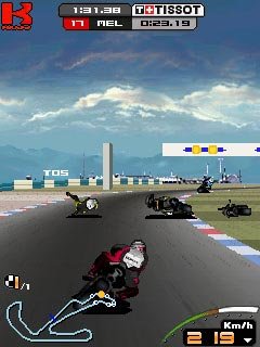 Mobile game Moto GP 09 - screenshots. Gameplay Moto GP 09