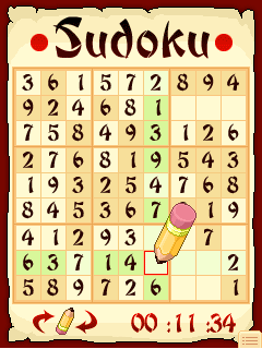 Mobile game Sudoku Mobile - screenshots. Gameplay Sudoku Mobile