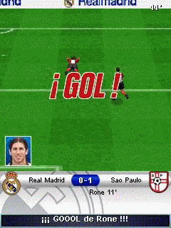 Mobile game Real Madrid Futbol 2009 3D - screenshots. Gameplay Real Madrid Futbol 2009 3D