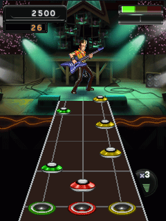 Mobile game Guitar Hero 5 Mobile - screenshots. Gameplay Guitar Hero 5 Mobile