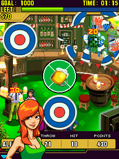 Mobile game Midnight Darts - screenshots. Gameplay Midnight Darts