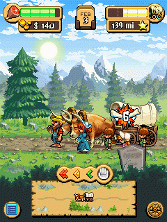 Mobile game Oregon Trail 2 Gold rush - screenshots. Gameplay Oregon Trail 2 Gold rush