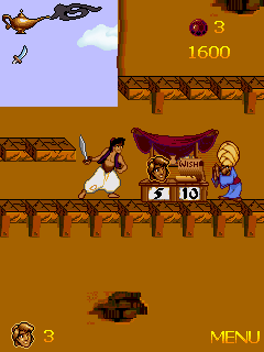 Mobile game Aladdin - screenshots. Gameplay Aladdin