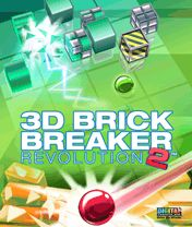 3D Brick Breaker Revolution 2 game ponsel Java jar