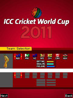 Mobile game ICC Cricket World Cup 2011 - screenshots. Gameplay ICC Cricket World Cup 2011