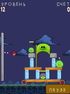 Mobile game Angry Birds - screenshots. Gameplay Angry Birds