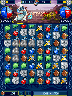 Mobile game Puzzle Warriors - screenshots. Gameplay Puzzle Warriors