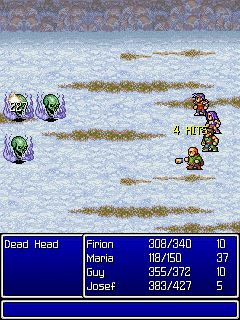 Mobile game Final Fantasy II - screenshots. Gameplay Final Fantasy II