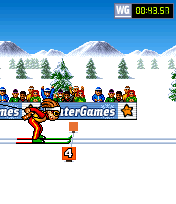 Mobile game PlayMan Winter Games - screenshots. Gameplay PlayMan Winter Games