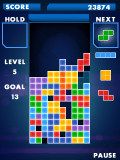 Mobile game Tetris 2012 - screenshots. Gameplay Tetris 2012