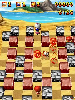 Mobile game Bomberman Atomic 3D - screenshots. Gameplay Bomberman Atomic 3D