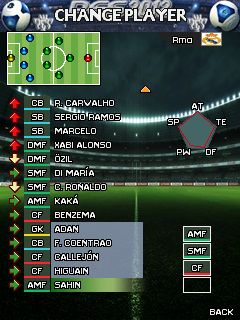 Mobile game Pro Evolution Soccer 2012 - screenshots. Gameplay Pro Evolution Soccer 2012