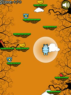 Mobile game Hippo Jump - screenshots. Gameplay Hippo Jump