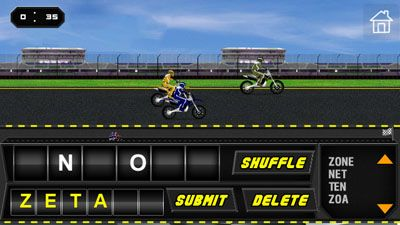 Mobile game Word Rider - screenshots. Gameplay Word Rider