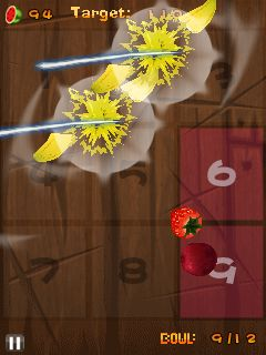 Mobile game Fruit ninja: Kinect - screenshots. Gameplay Fruit ninja: Kinect