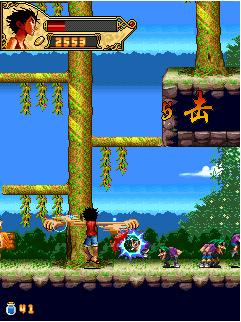 Mobile game One Piece Horizontal Action - screenshots. Gameplay One Piece Horizontal Action