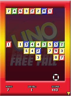 Mobile game UNO Free Fall - screenshots. Gameplay UNO Free Fall
