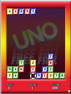 Mobile game UNO Free Fall - screenshots. Gameplay UNO Free Fall