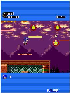 Mobile game Sonic The Hedgehog: Part 1 - screenshots. Gameplay Sonic The Hedgehog: Part 1