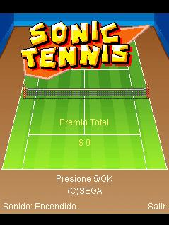 Download free mobile game: Sonic Tennis - download free games for mobile phone