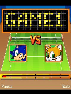 Java game screenshots Sonic Tennis. Gameplay Sonic Tennis