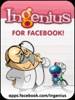 In addition to the  game for your phone, you can download Ingenius for Facebook for free.