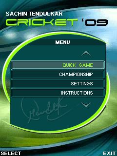 Mobile game Sachin Tendulkar Cricket 2009 - screenshots. Gameplay Sachin Tendulkar Cricket 2009