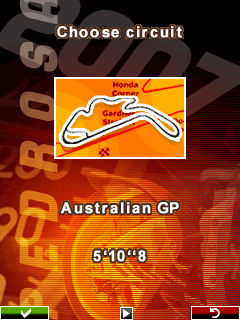 Mobile game Pedrosa GP 2007 - screenshots. Gameplay Pedrosa GP 2007