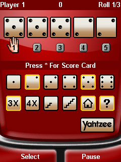 Mobile game Yahtzee Deluxe - screenshots. Gameplay Yahtzee Deluxe
