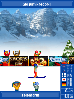 Mobile game Ski Jump 2007 - screenshots. Gameplay Ski Jump 2007